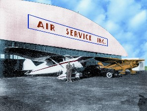 Ballanca Air Service Hangar, from Friends of Bellanca